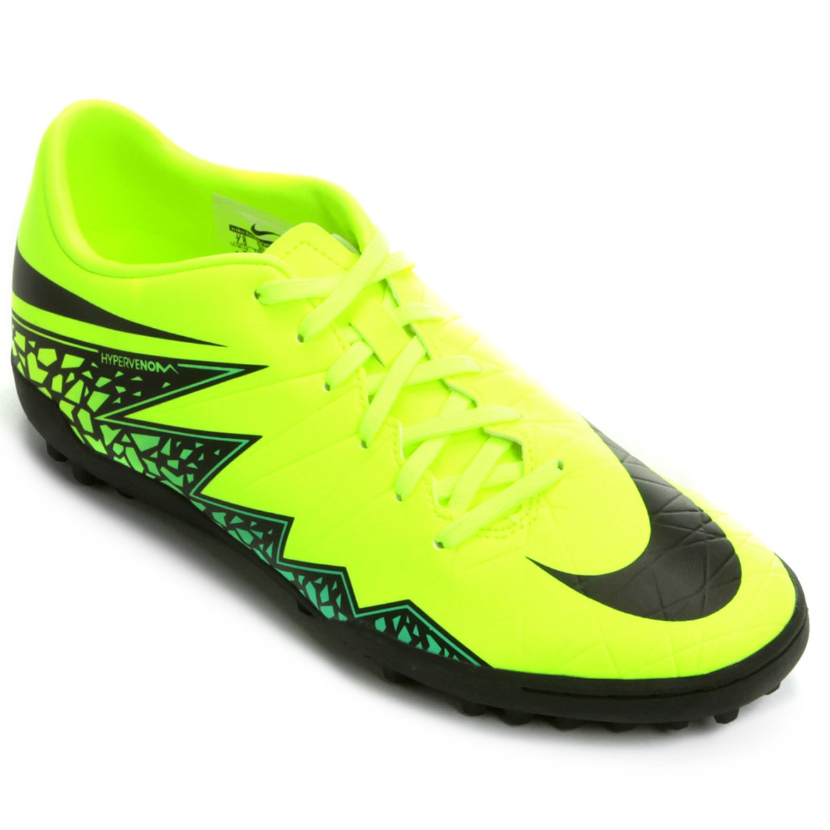 15a7ae03891 Chuteira Nike Hypervenom Phelon 2 TF Society - Preto e Verde Limão