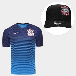 Kit Camisa Nike Corinthians III 2016 s nº - Torcedor + Boné New Era  Corinthians acb1f9d8c4a0b