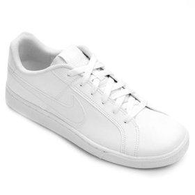 e548f1803b4 Tênis Couro Nike Court Royale Feminino - Branco e prata - Compre ...