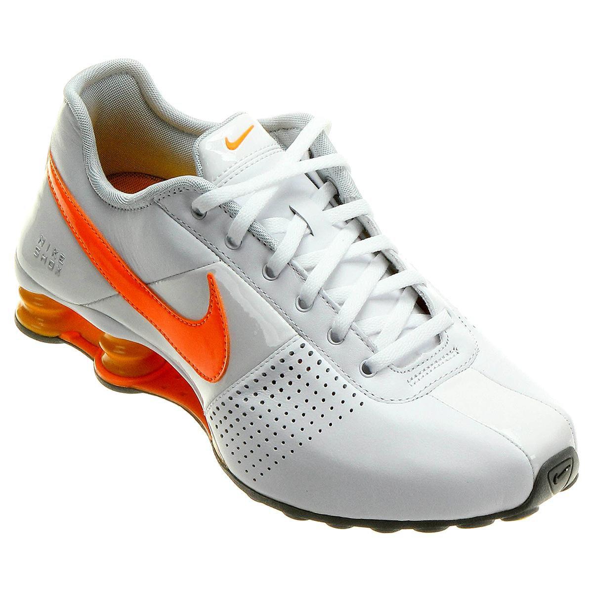6e2ac47d3f ... Tênis Nike Shox Deliver - Branco e Laranja .