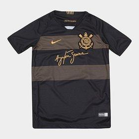 703666d8ae Camisa Corinthians III 2018 s n° - Torcedor Nike Masculina - Preto e ...