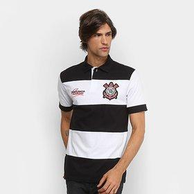 Camisa Polo Infantil Corinthians Democracia 1982 - Preto e Branco ... d5e022e00ebb9