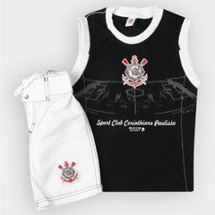 Conjunto Corinthians Infantil Bermuda e Regata f8a6bad981037