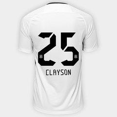 Camisa Corinthians I 17 18 nº 25 Clayson - Torcedor Nike Masculina 78065df28185c