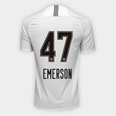 4026384b0b Camisa Corinthians I 18 19 Nº 47 Emerson - Torcedor Nike Masculina