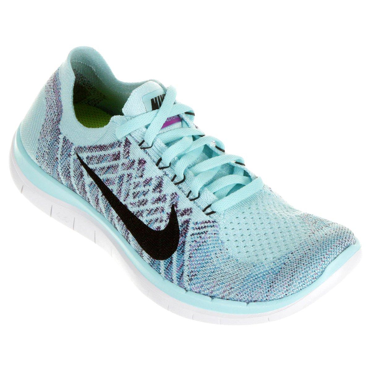6f3bd7ee093 ... Tênis Nike Free 4.0 Flyknit - Azul Piscina ...
