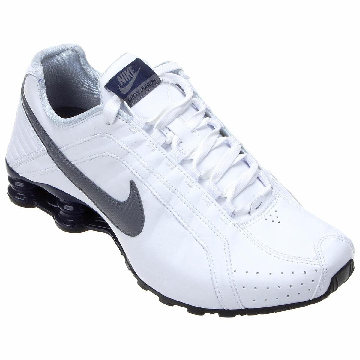 best website d8863 8903a ... Tênis Nike Shox Junior - Branco e Azul Petróleo ...