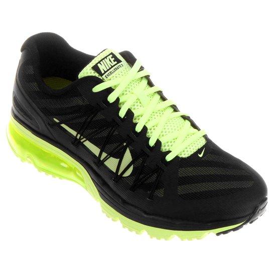 reputable site ac1dc bc272 ... Tênis Nike Air Max Excellerate 3 NR - Preto e Verde Limão ...