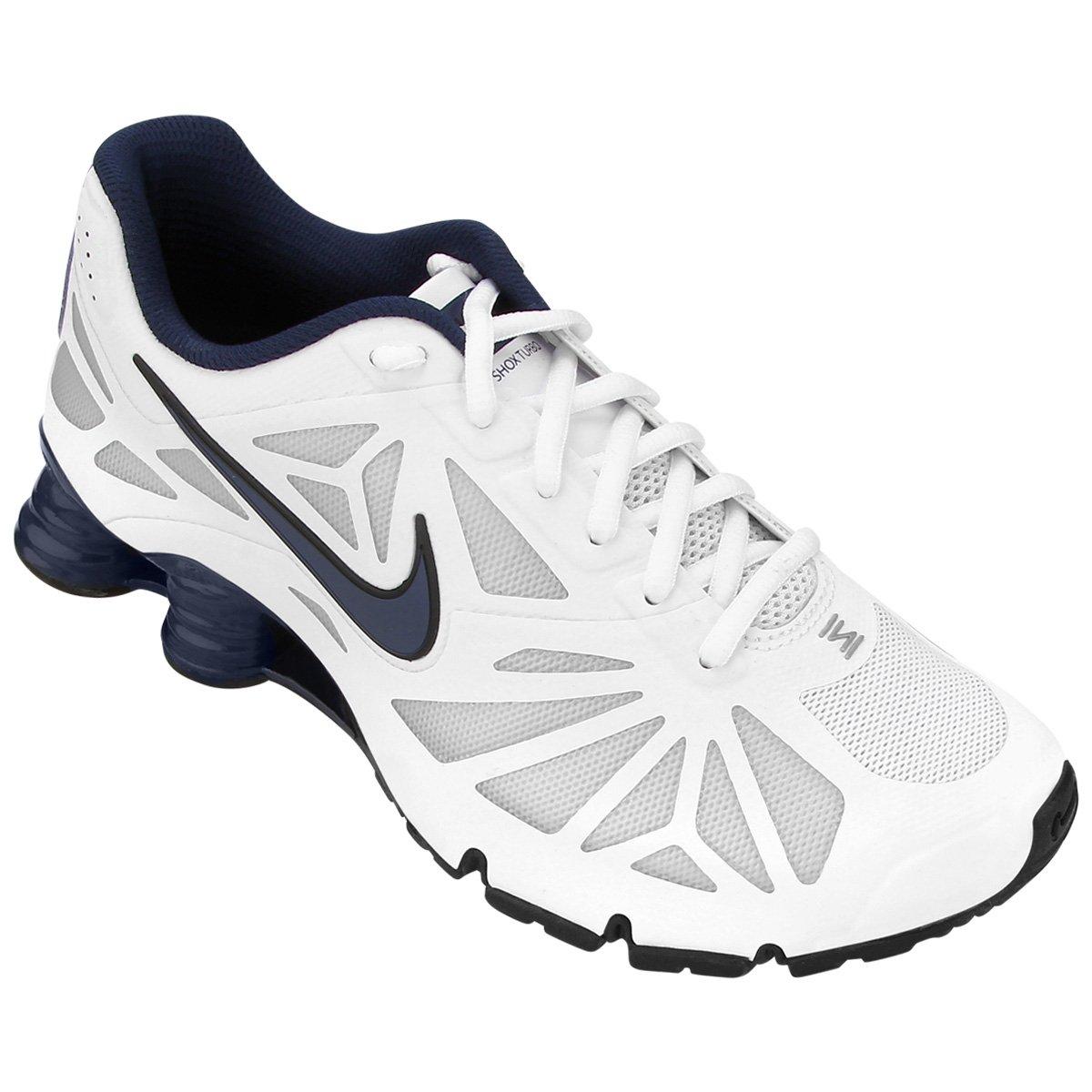ef5fa06d1d ... Tênis Nike Shox Turbo 14 - Branco e Marinho ...
