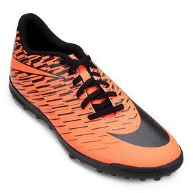 Chuteira Society Nike Tiempo Rio 4 TF - Preto e Branco - Compre ... 95632158611ab