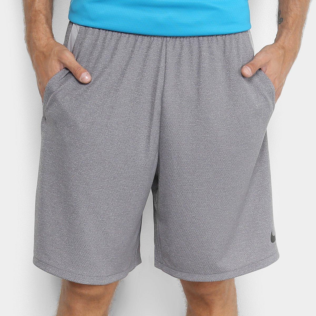 a58d708f24 Bermuda Nike Dry 4.0 Masculina - Grafite e Preto - Compre Agora ...