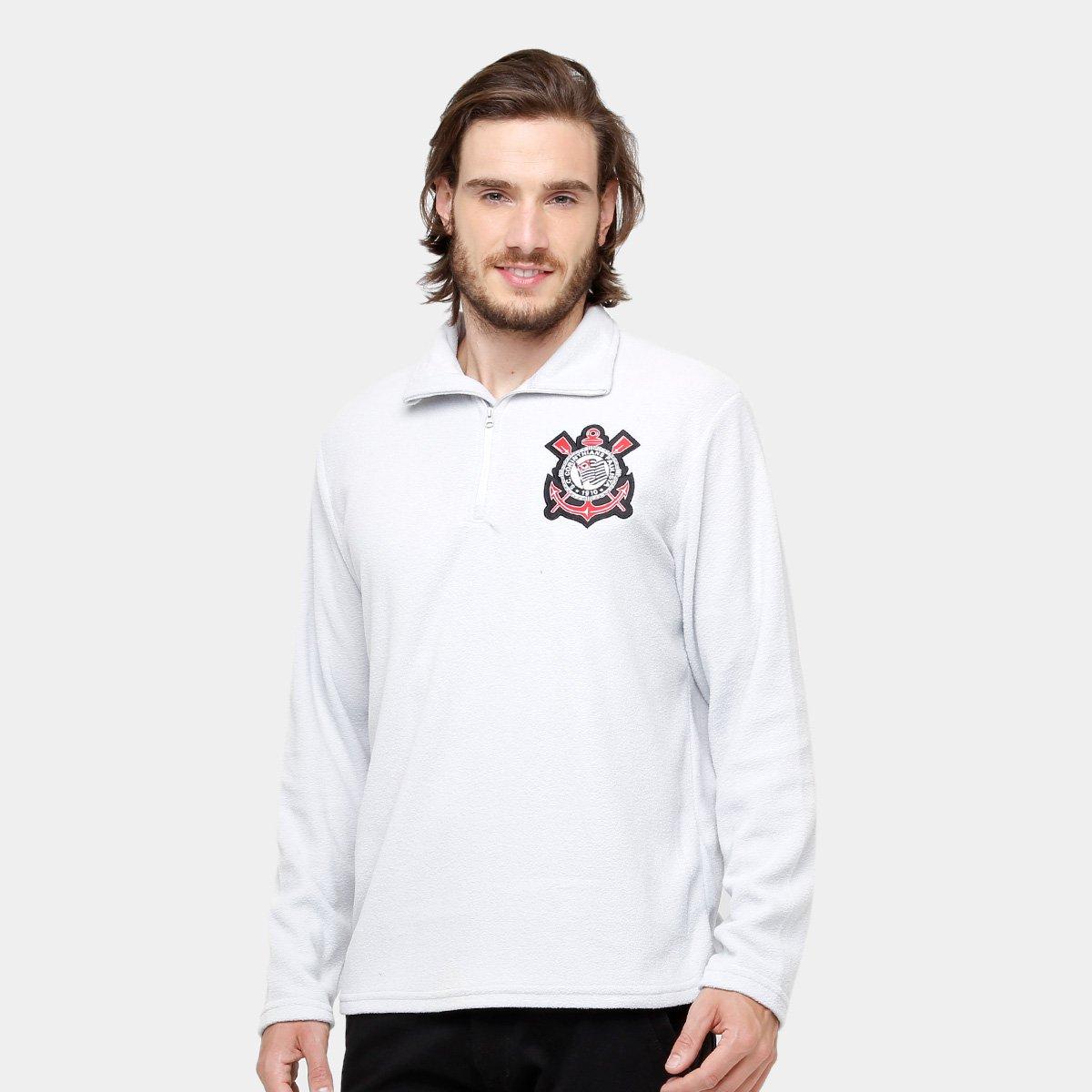 dd83e2ee9e Blusão Corinthians Polar Fleece Masculino - Cinza - Compre Agora ...