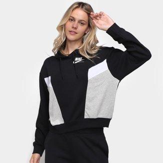 Blusão Nike Heritage Hoodie Fleece Feminino