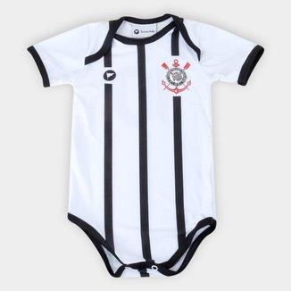 Body Corinthians Infantil Torcida Baby Listrado Proteção UV