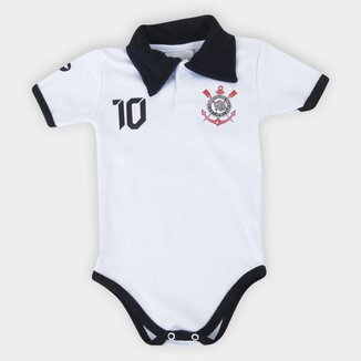 Body Corinthians Infantil Torcida Baby Polo