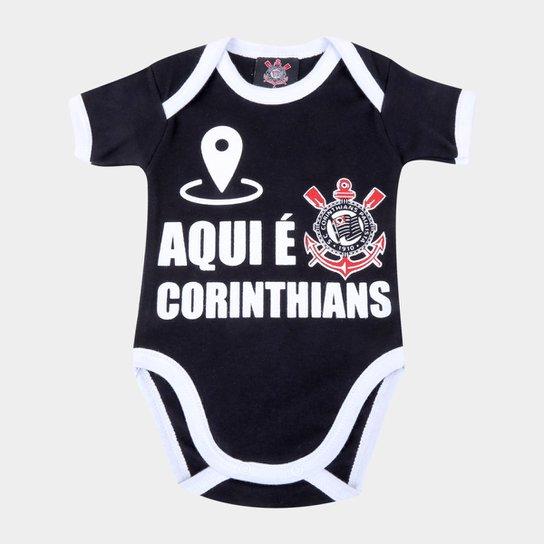 Body Infantil Corinthians Nação - Preto