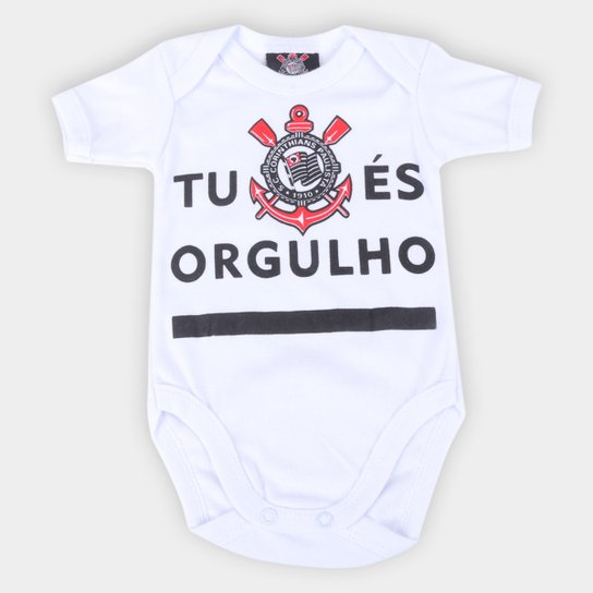 Body Infantil Corinthians Tu És Orgulho - Branco