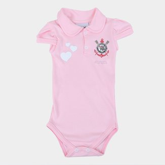 Body Polo Corinthians Infantil Torcida Baby