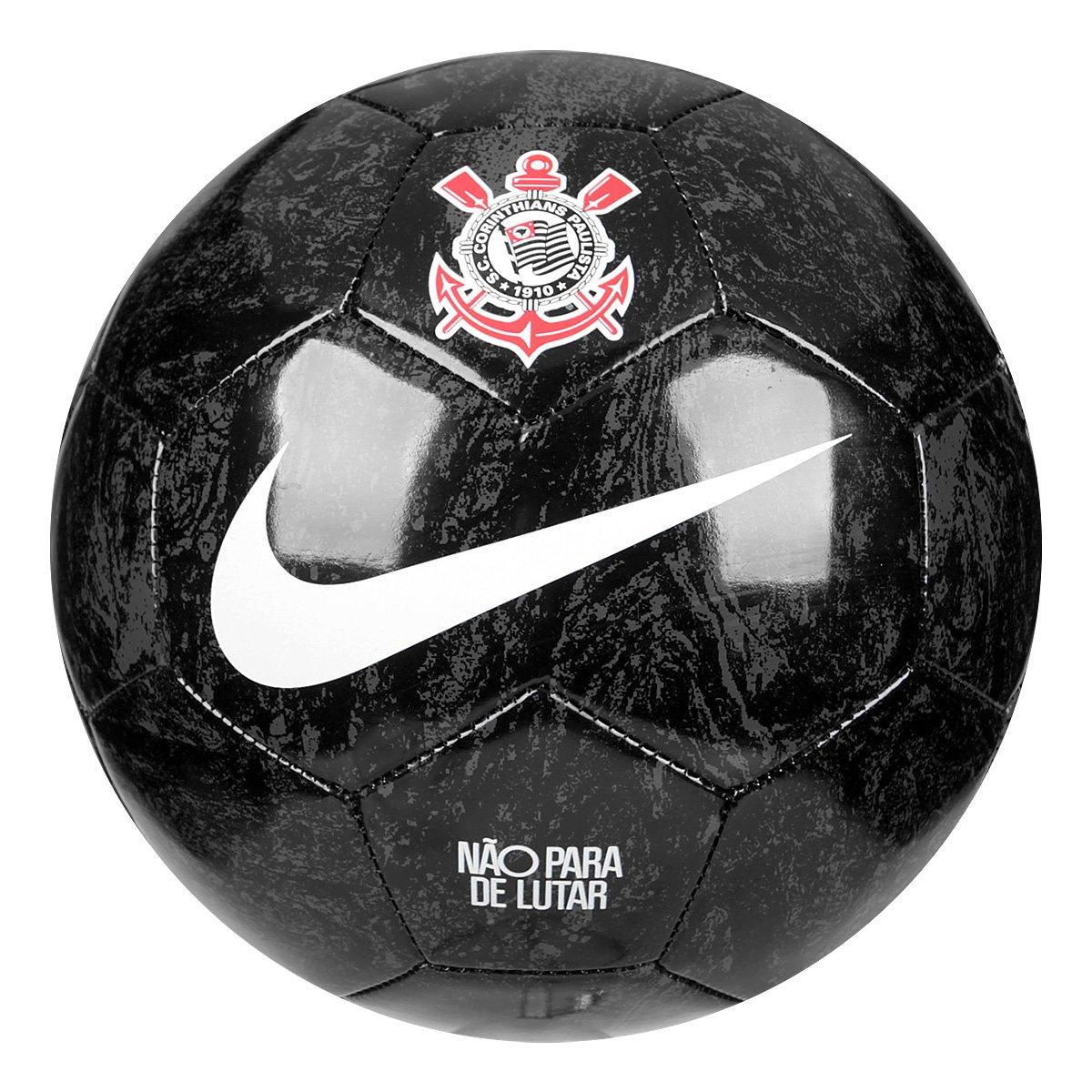 Bola de Futebol Campo Nike Corinthians - Preto e Branco - Compre ... ec5bc3e8b77d4