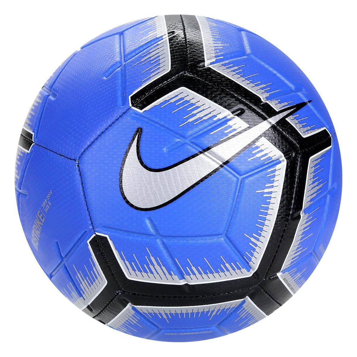 59c476bb9c4de Bola de Futebol Campo Strike Nike - Azul e Preto - Compre Agora ...