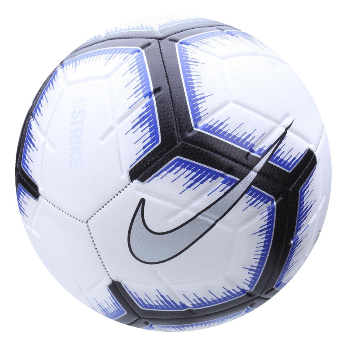 818a4e216 Bola de Futebol Campo Strike Nike - Branco e Azul - Compre Agora ...