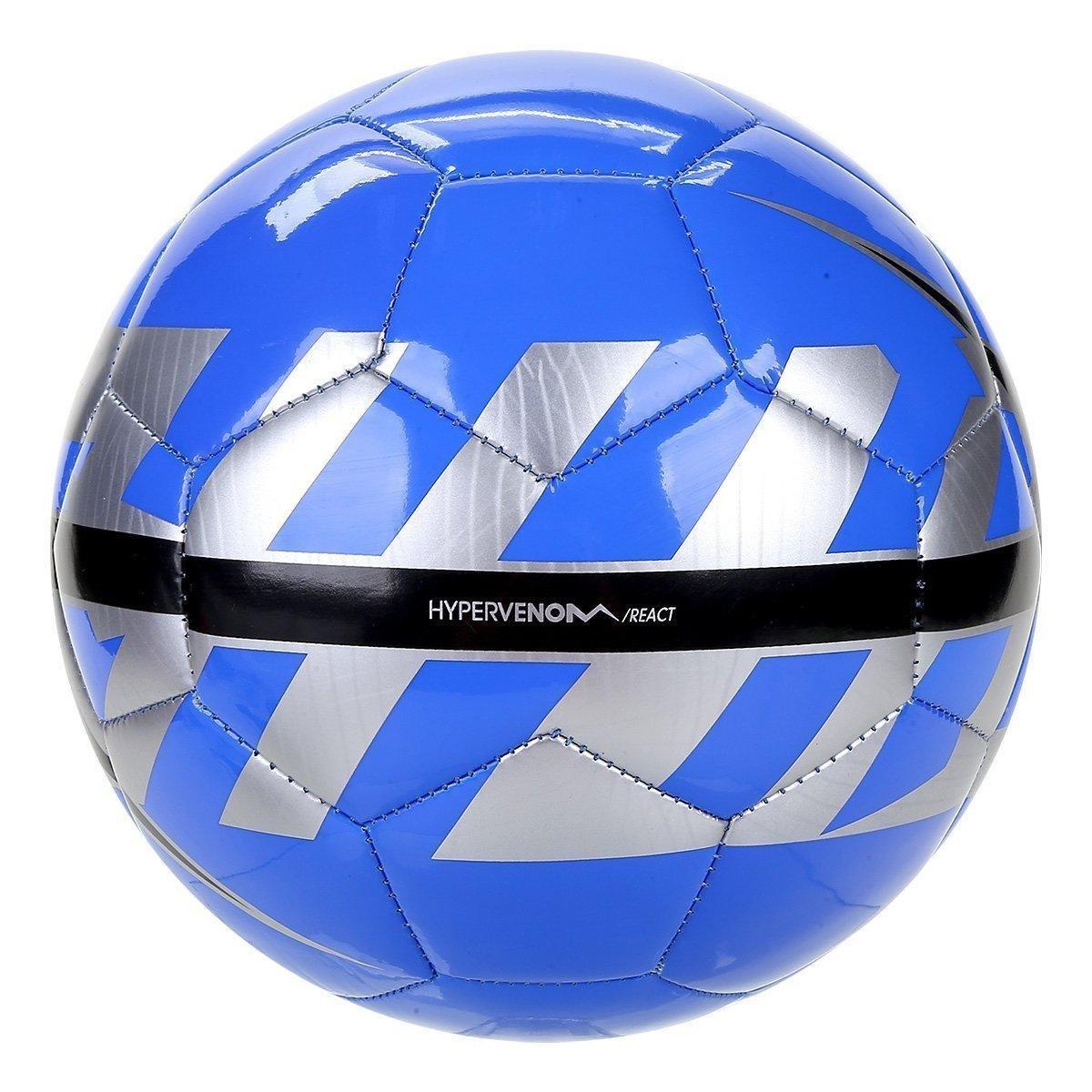 Bola Futebol Nike React Campo - Azul e Cinza - Compre Agora  6e84e1e579b36