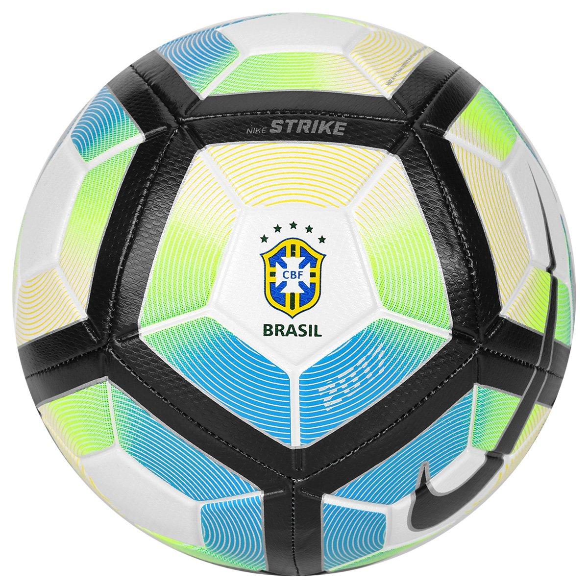 Bola futebol nike strike cbf campo preto e verde for Bolas para piscina de bolas