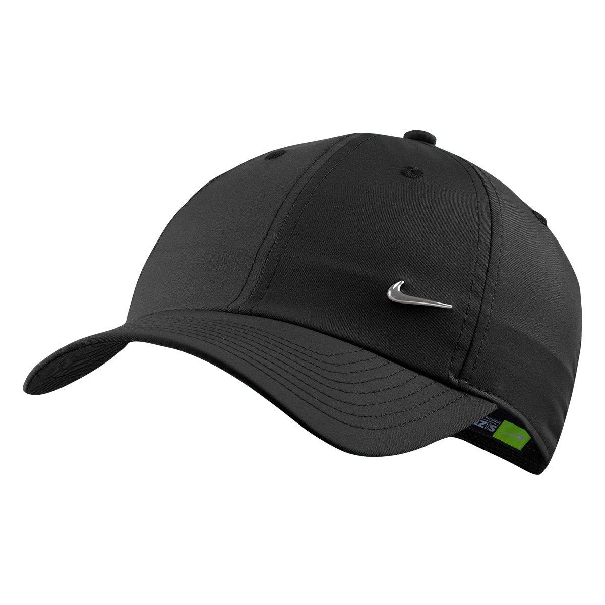 Boné Nike Aba Curva H86 Metal Swoosh - Preto - Compre Agora  00b84da675d