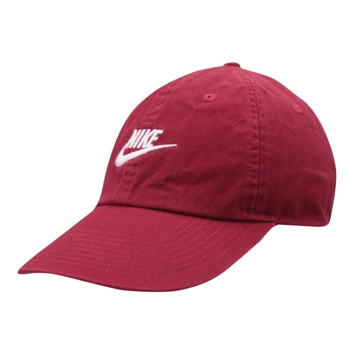 e4434f2d04 Boné Nike Aba Curva U Nsw H86 Futura Washed - Vermelho