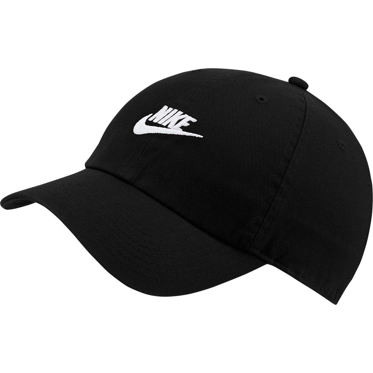 17df6b7447 Boné Nike Aba Curva U Nsw H86 Futura Washed - Preto e Branco