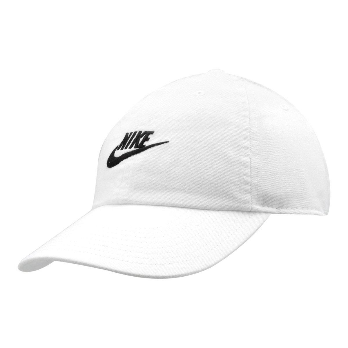 Boné Nike Aba Curva U Nsw H86 Futura Washed - Branco e Preto - Compre Agora   147dadd16c758