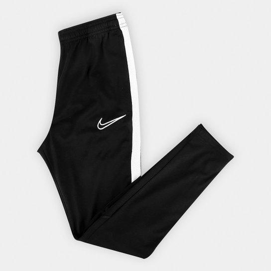 Calça Infantil Nike Academy Dry Fit KPZ - Preto+Branco