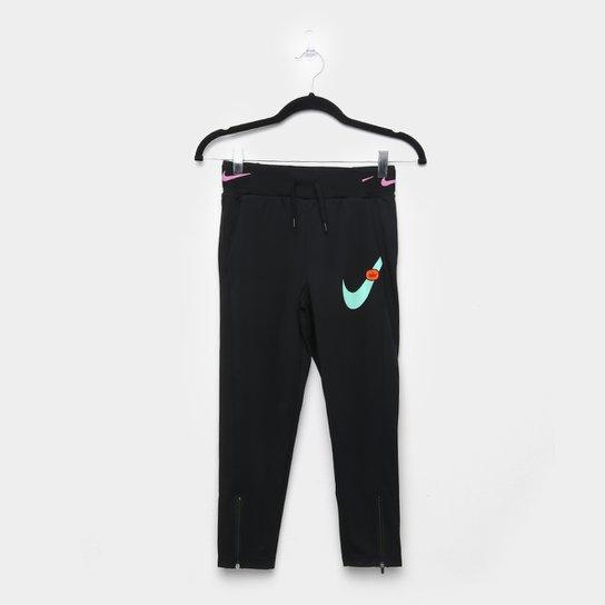 Calça Infantil Nike G Nsw Pant Jdiy Feminina - Preto+Rosa