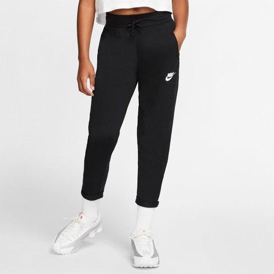 Calça Infantil Nike Sportswear Jersey Feminina - Preto