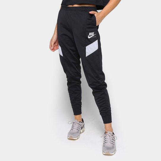 Calça Jogger Nike Nsw Heritage Pk Feminina - Preto+Cinza