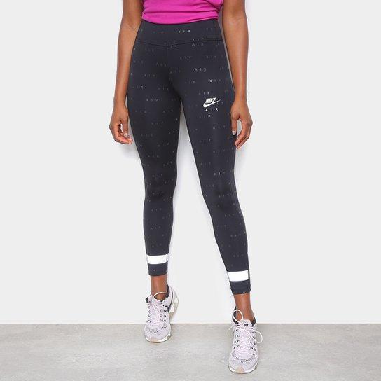 Calça Legging Nike Air 7_8 Tght PR Feminina - Preto+Prata