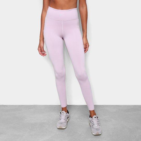 Calça Legging Nike Np Luxe Tight Feminina - Rosa+prata