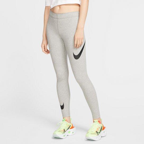 Calça Legging Nike NSW Swoosh Feminina - Cinza