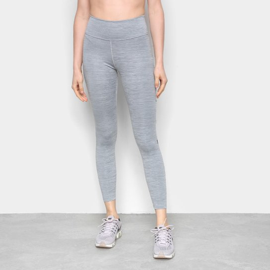 Calça Legging Nike One 7/8 Feminina - Cinza+Preto