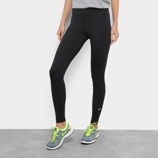 Calça Legging Nike One Tght Feminina - Preto+Branco