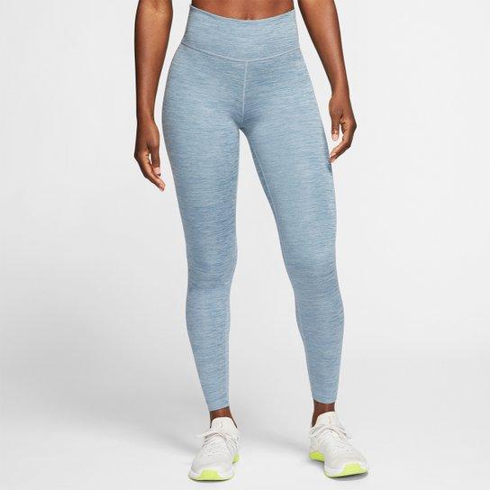 Calça Legging Nike One Tght Feminina - Azul+Branco