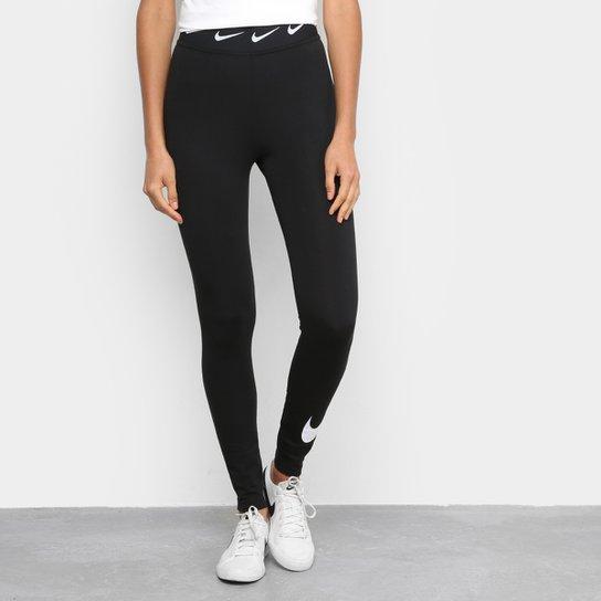 Calça Legging Nike Sportwear Club Feminina - Preto+Branco