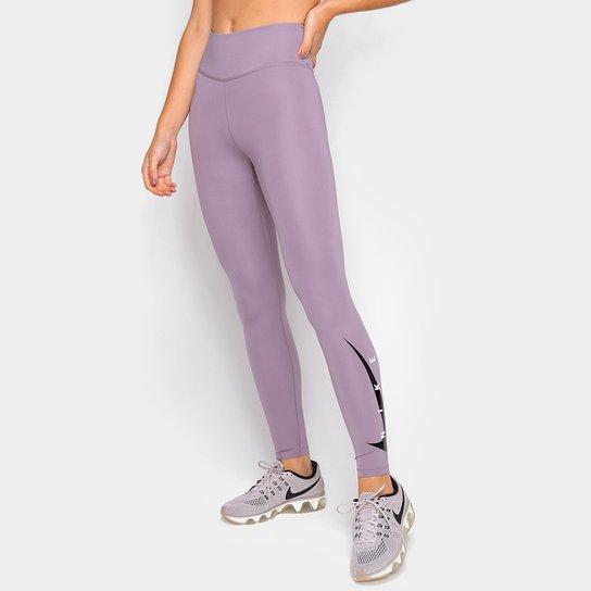 Calça Legging Nike Swoosh Run 7/8 Feminina - Roxo+Prata