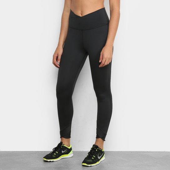 Calça Legging Nike Yoga Wrap 7/8 Tight Feminina - Preto+Cinza