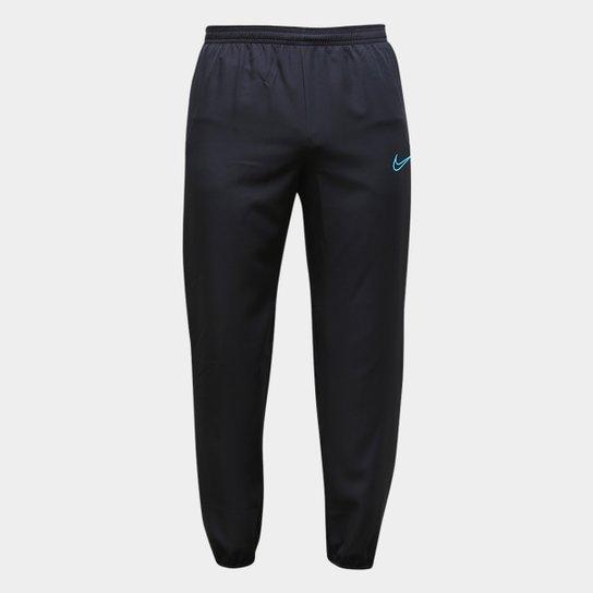 Calça Nike Academy WVN Dri-Fit Masculina - Preto+Azul