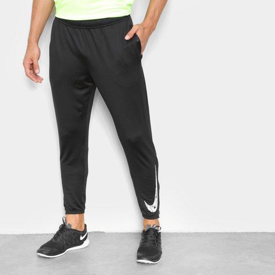 Calça Nike Essentials Knit Masculina - Preto+Branco