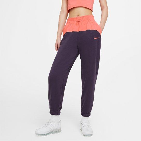 Calça Nike Icon Clash Jogger Mix Feminina - Marinho+Branco