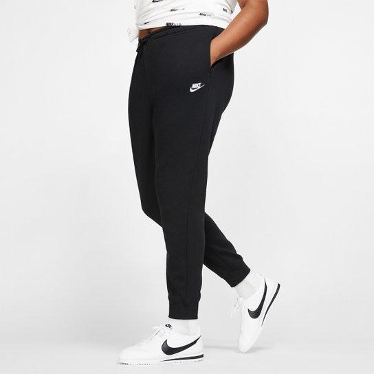Calça Nike NSW Sportswear Essential Plus Size Feminina - Preto+Branco