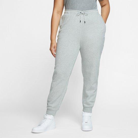 Calça Nike NSW Sportswear Essential Plus Size Feminina - Cinza+Branco