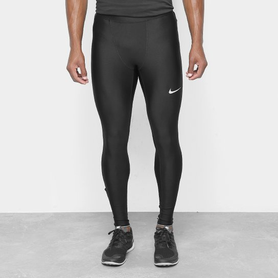 Calça Nike Run Mobility Tight Masculina - Preto+Prata